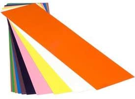 "14 Piece Plastic Color Coded Shim Assortment 5"" X 20"" Flat Sheets"