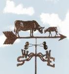 Cow & Calf Roof Mount Weathervane