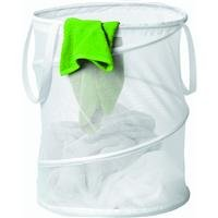 Honey-Can-Do HMP-01262 Pop-Up Mesh Spiral Hamper, Medium, White by Honey-Can-Do