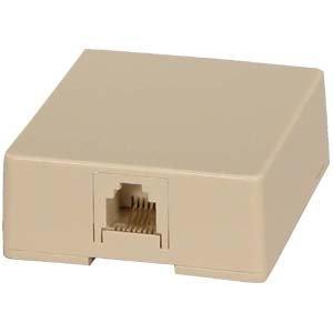 InstallerParts (100 Pack) RJ11 Modular Single Port Surface Mount Jack - Ivory