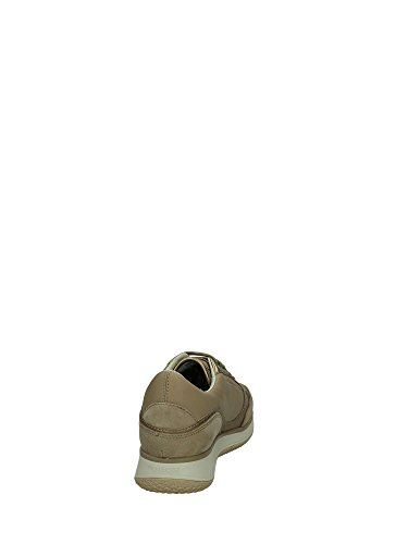 Taupe para Taupe Beige de Zapatillas Piel Geox mujer tPYfnv