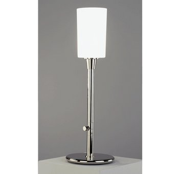 Robert Abbey 2069 Lamps with Frosted White Cased Glass Shades, Polished Nickel Finish, 26.5