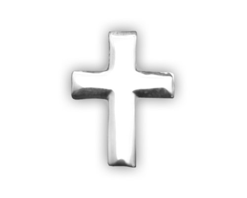 Fundraising For A Cause 25 Pack Small Silver Cross Tac Pins (Wholesale Pack - 25 Pins)