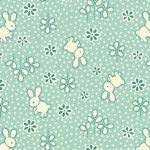 HENRY GLASS & CO. Nana Mae II 1930's Reproduction Bunny Toss Quilt Fabric Style 6917/60 Aqua -