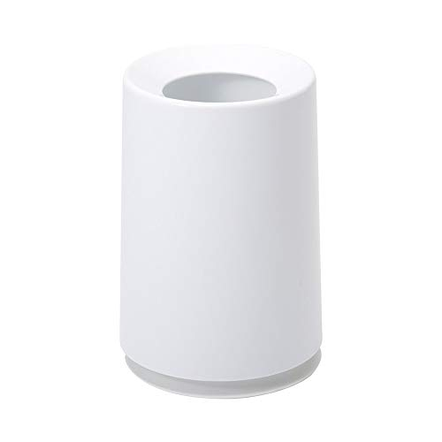 Ideaco TUBELOR Classic Designer Round Waste Bin, Conceals Any Plastic Bag 1.7 Gal, Gloss White