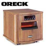 Oreck Heatwise Infrared Heater/ Wood Cabinet