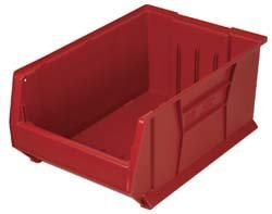 Quantum Storage Systems Windows - Quantum QUS952 Plastic Storage Stacking Hulk Container, 24-Inch by 11-Inch by 7-Inch, Red, Case of 4