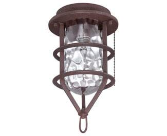 Craftmade Ceiling Fan Light Kits - Craftmade OLK200CFL-ABZ 1 Light Outdoor Cage Fan Light Kit with Clear Water Glass, Aged Bronze Brushed
