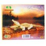 Creative 3D Jigsaw Woodcraft Construction Puzzle Decoration Kit for Kids-Crocodile(21*17CM)