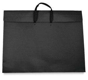 Art Envelope - Star Products 23-Inch by 31-Inch by 2-Inch Dura Tote Classic Black Poly Portfolio