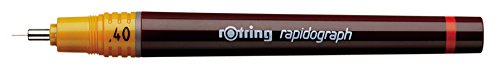 Rotring Rapidograph Technical Drawing Pen Junior Set, 3 Pens with Line Widths of 0.2mm to 0.6mm, Brown (S0699490) by Rotring (Image #2)