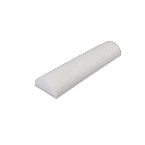 Cando 30-2100 White Round Foam Roller, 6 Diameter x 36 Length