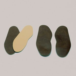 Brown Moleskin (Steins Sports Mold Insole w/ Flange, Medium, 1/8 Inch Thick, Brown, 765-5281-0000 (Pair of 2))