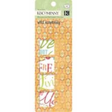 K & Company Rub-On Swatch Book - Wild Raspberry ()