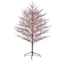 GE 5ft Pre-lit Brown Branch Tree Winterberry Designer Series by GE