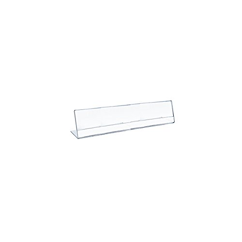 Azar 112760 8.5-Inch Width by 2.5-Inch Height Horizontal Nameplate Acrylic Sign Holder, 10-Pack