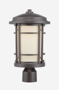 Designers Fountain LED22436-BNB Barrister 9'' LED Post Lantern