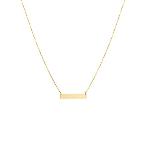 Fremttly Womens Simple Delicate Handmade 14K Gold Filled Thin Heart Bar and Full Moon Layering Pendant Bead Chain Star Necklace-Ne-BAR