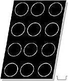 Flexipan, Tatin Apple Tart 10.31 Oz, 105mm Dia x 40mm Deep (4-1/8'' Dia x 1-9/16'' Deep), 12 Cavities