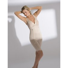 Annette - 17366-XL-BGE - Renolife Sleeveless Above-The-Knee Girdle-Beige- by Generic