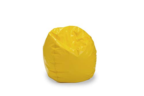 Bigger and Better! Adult Size Bean Bag Chair (Yellow), 100% American Made