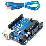 Microcontroller Kit - Arduino Uno R3 Development Board, Kit Microcontroller Based on ATmega328 and ATMEGA16U2 with USB Cable for Arduino, Original(Arduino Uno R3)