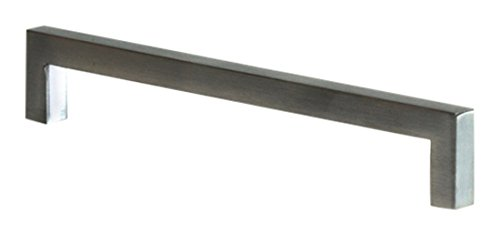 durable modeling Bayport House 20055-SS Solid Square D Handle, Stainless Steel Finish