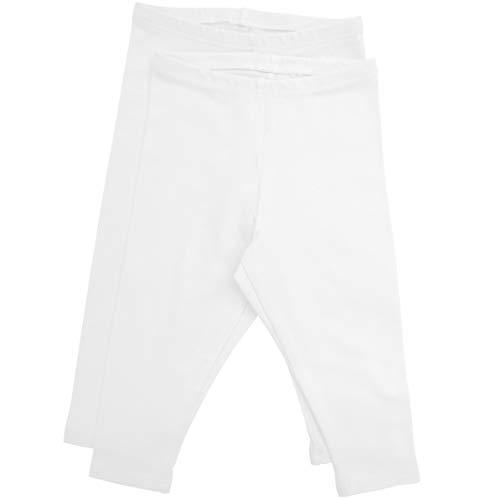 Stretch is Comfort Girl's Infant Leggings 2 - Pack White S 6M