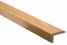Unika Solid Oak Lacquered lip Over Type Wood Floor Stair Nosing Profile 1000mm Length by Unika