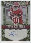 Tevin Coleman #55/199 (Football Card) 2015 Panini Prizm Collegiate Draft Picks - [Base] - Camo Prizms Autographs [Autographed] #145