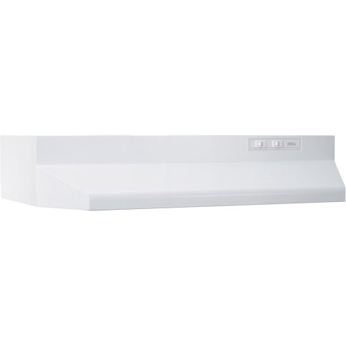 Broan-NuTone 403001 Range Hood Insert with Light, White Exhaust Fan for Under Cabinet, 6.5 Sones, 160 CFM, 30