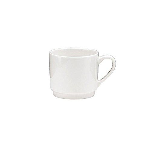 6 Oneida 8.5oz Tundra Stackable Cup Coffee Tea Restaurant Wholesale Bulk Lot