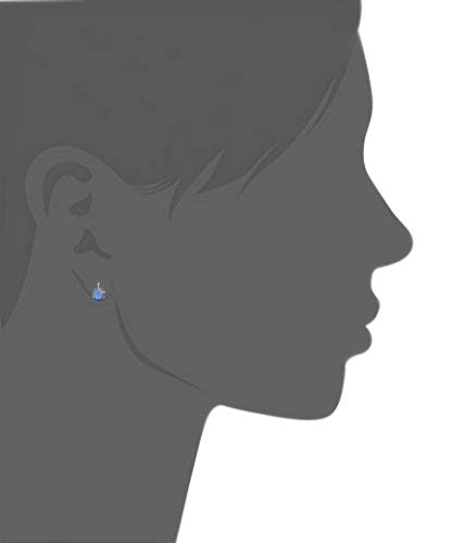 15X10MM Pear London Blue Topaz /& 0.17 Ct Diamond 14K Gold Over Sterling Silver Solitaire Stud Earrings
