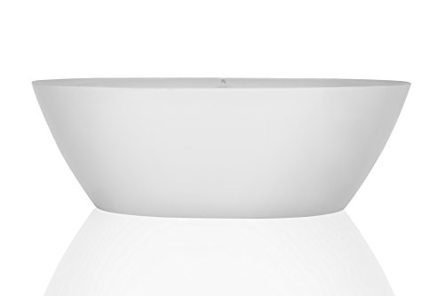 Empava 71'' Luxury Stand Alone Acrylic Soaking SPA Tub Modern Freestanding Bathtubs with Custom Contemporary Design EMPV-FT1503 by Empava (Image #2)