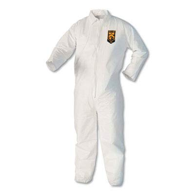 Kimberly Clark 44304 Kleenguard A40 Coveralls Zip Front, X-Large, White by Kimberly-Clark