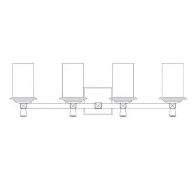 Justice Design Group ALR-8534-10-CROM 4 Light Bathroom Fixture from the Alabaster Rocks! Collection