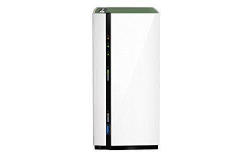 TALLA Enclosure. QNAP TS-228A NAS Mini Tower Ethernet Blanco Servidor de Almacenamiento - Unidad Raid (Unidad de Disco Duro, Serial ATA III, 3.5