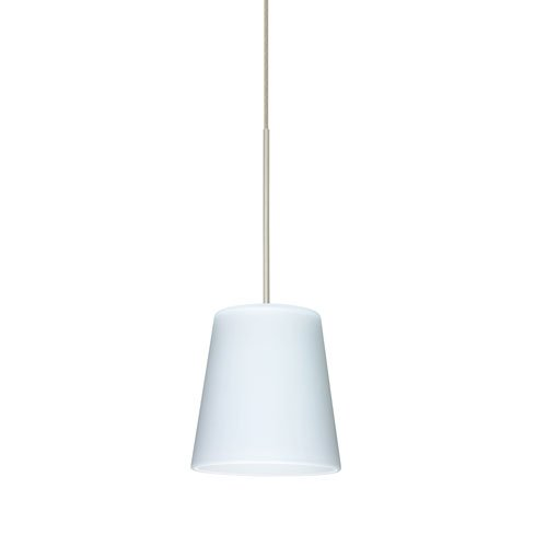 Besa Lighting 1XT-513107-SN Canto 5 Pendant with Opal Matte Glass, Satin Nickel Finish