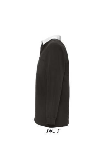 SOL´S Rugbyshirt Pack, Größe:L, Farbe:Black/White
