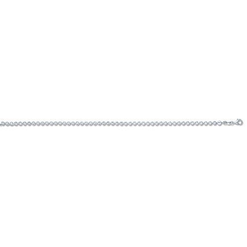 Argent sterling D/C Collier de perles 45,7cm (46cm), 10.8G