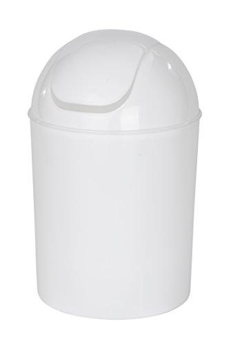 Wenko 21884100 Schwingdeckeleimer Economic, Fassungsvermögen 6 L, Polypropylen, 20 x 20 x 30 cm, weiß