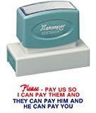 Xstamper Jumbo Stamp - Please Pay Us