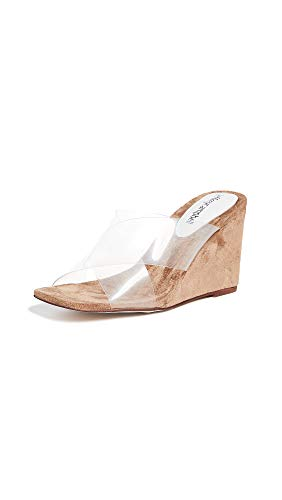 Jeffrey Campbell Women's Mystical Wedge Slides, Natural/Clear, 9.5 M US