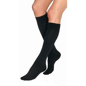 Women's Ultrasheer 30-40 mmHg Knee High Support Sock Size: X-Large, Color: Classic Black