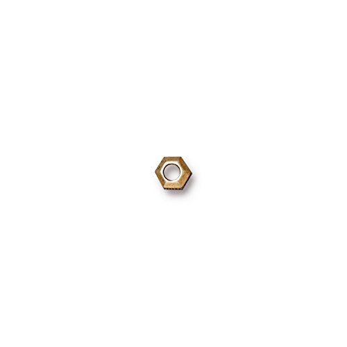 - TierraCast Faceted Heishi, 5mm/2mm, Antiqued 22K Gold Plated Pewter, 20-Pack