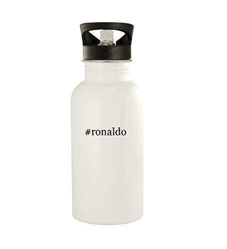 #ronaldo - 20oz Hashtag Stainless Steel Water Bottle, White