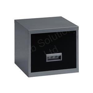 553273ef987 Pierre Henry 099071 A4 Steel Lockable 1 Drawer Filing Cabinet -  Silver Black  Amazon.co.uk  Office Products