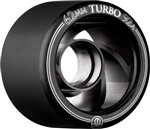 Rollerbones Turbo 92A Speed/Derby Wheels with an Aluminum Hub (Set of 8), 62mm, Black