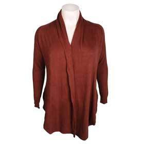 Elegance Chocolate Brown Angora Mix Waterfall Cardigan - Size 20 ...