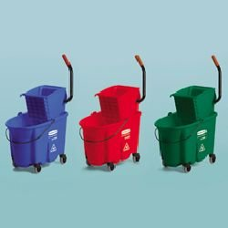 Rubbermaid 758888RED WaveBrake Side-Press Wringer/Bucket Combo 8.75 gal Red by Rubbermaid Commercial Products